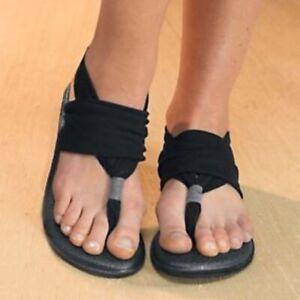 SANUK Yoga Sling Black Sandals Flip