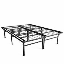 bed frame 18 inch smart base mattress foundation queen under bed storage bedroom