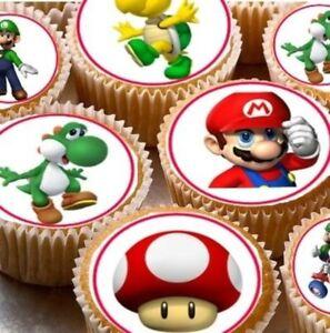 Edible Cake Decorations Fairies : Super Mario Edible Cupcake Fairy Cake Topper x24 eBay