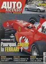 AUTO HEBDO n°1419 du 19 Novembre 2003 FORMULE RENAULT V6 DALLARA NISSAN SOLBERG