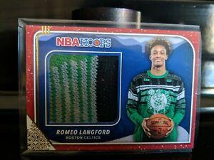 2019-20 PANINI NBA HOOPS ROMEO LANGFORD Holiday SWEATER RELIC CARD CELTICS