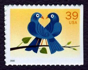 #4029 39c Amor: True Azul, Nuevo Cualquier 5=
