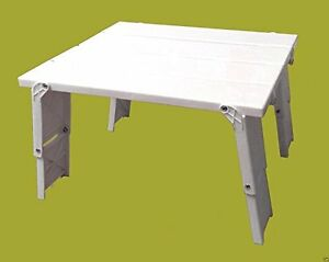 new lot of 2 plastic white portable folding accent camping picnic beach table 80958319218 ebay. Black Bedroom Furniture Sets. Home Design Ideas