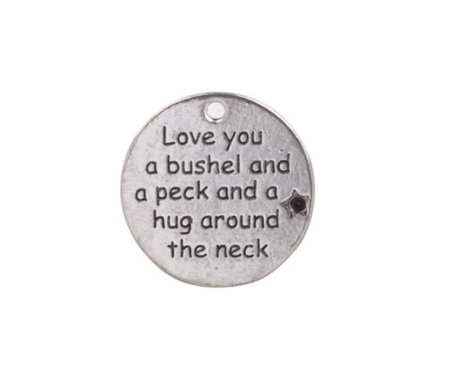 10PCS Love you a bushel and a peck and a hug around the neck Charms #92452
