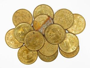 Objective Lot Of 16 San Diego Ellwest-jolar Amusement Center Tokens #118308 R Providing Amenities For The People; Making Life Easier For The Population Collectibles