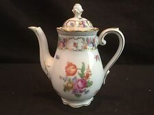 SCHUMANN EMPRESS DRESDEN FLOWERS ROSE SMALL COFFEE POT WITH LID FLORAL