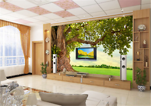3D Baum Gras Landschaft 893 Tapete Wandgemälde Tapeten Bild Familie DE Lemon