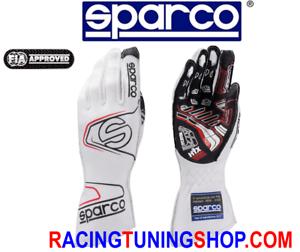 GUANTI-AUTO-SPARCO-EVO-RG-7-OMOLOGATI-FIA-RACING-GLOVES-HANDSCHUHE-white