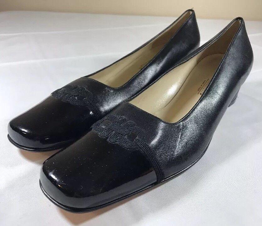 SALVATORE FERRAGAMO chaussures talons escarpins en Italie Bloc Femmes 8 AA Boutique