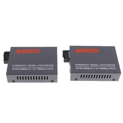 100//1000Mbps RJ45 Ethernet to Fiber Media Converter Singlemode 25KM SC