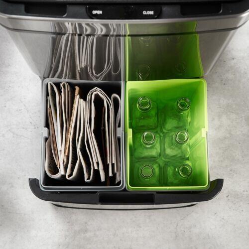 VonHaus 72L 3 Compartment Recycling Sensor BinHands-Free//Automatic//Infra-Red
