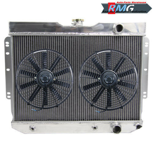 3Row Aluminum Radiator For 1959-1963 Chevrolet Impala Bel-air  1960 61 1962 Fan