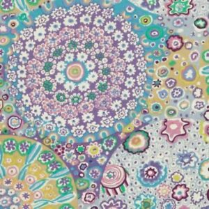 Free-Spirit-Kaffe-Fassett-Millefiore-GP92-Lilac-Contemporary-Cotton-Fabric-BTY