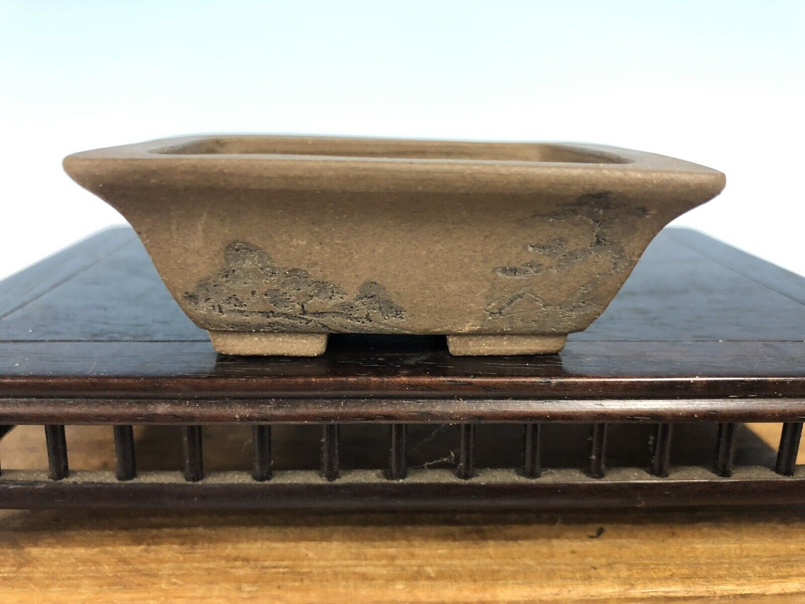 "Handmade Etched Shohin storlek Bonsai Tree Pot By Maruhei 2 7 8"""