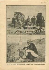 WWI-Poilus-Canon-de-75-Tirailleurs-Senegalais-Cuisine-Tranchee-1915-ILLUSTRATION