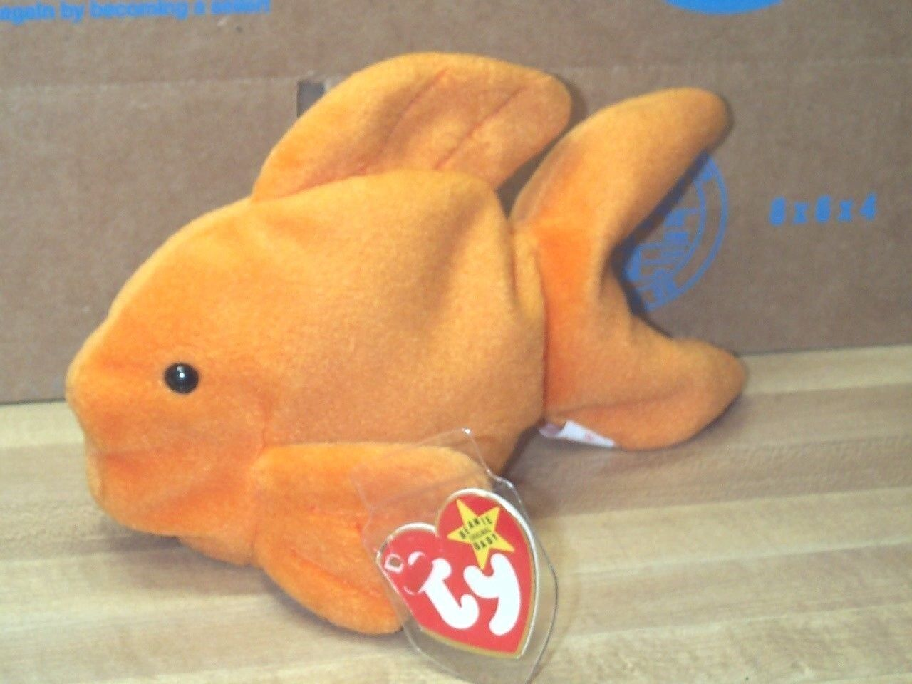 TY Beanie Baby Babies goldie goldfish Made in Korea 11-14-1994 PVC Pellets 4023