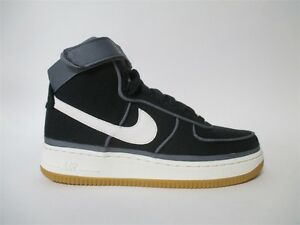 huge discount 65aaa fde07 Image is loading Nike-Air-Force-1-High-Black-Sail-Dark-