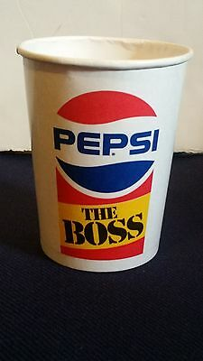 PEPSI COLA SODA THE BOSS PAPER CUP UNUSED VINTAGE DIXIE