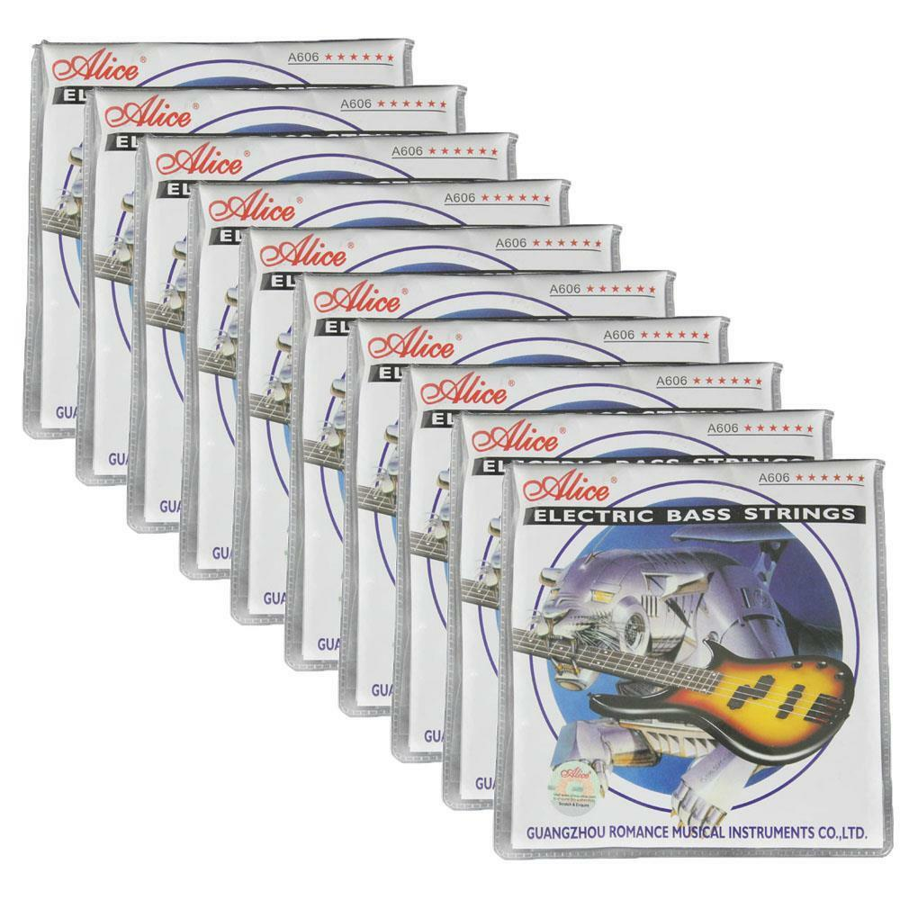 10Sets Alice Electric Bass Strings Nickel Alloy Wound GDAE 4 Strings Set A606M