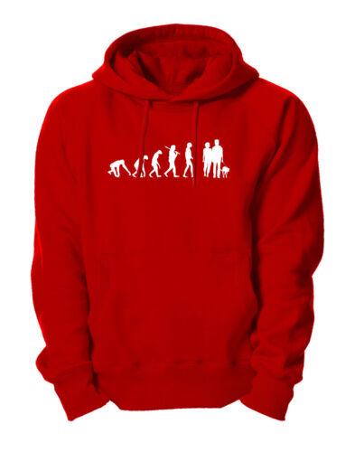 Evolution Hund Gassi  Hoodie Kapuzensweatshirt