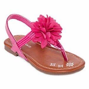 Okie dokie lil fleur pink flower sandals shoes infant toddler girl image is loading okie dokie lil fleur pink flower sandals shoes mightylinksfo
