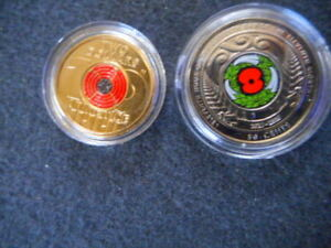 2018 ARMISTICE RED POPPY $2 COIN and  NZ ARMISTIC 50CENTS NEW RELEASE