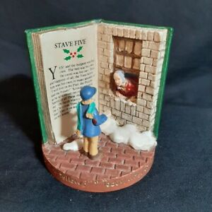 Russ-Berrie-A-Christmas-Carol-Figurine-13980-Stave-Five-Whats-Today-Scrooge-Lad