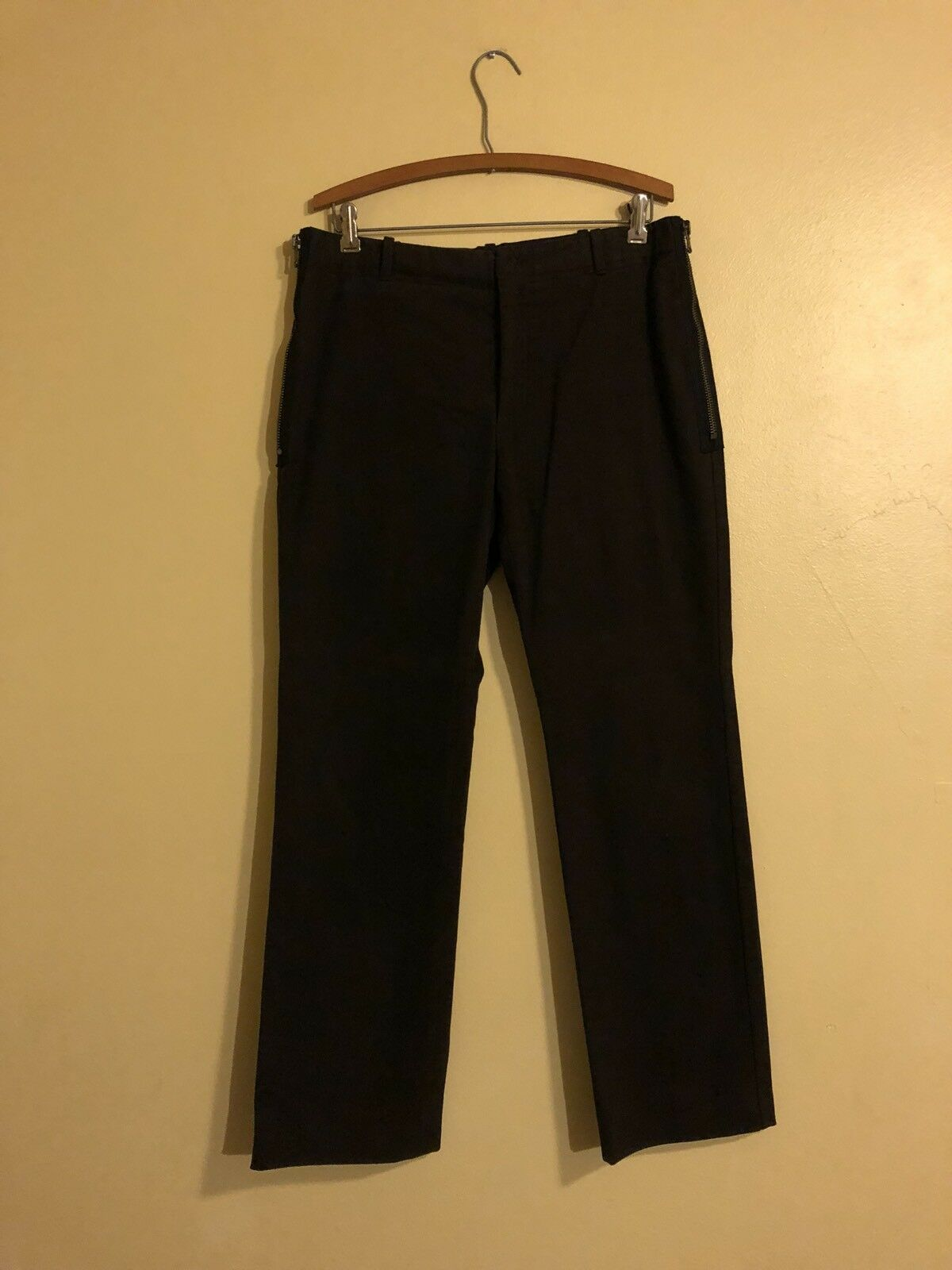 Costume national Side Zipper Pants Size 34 31.5