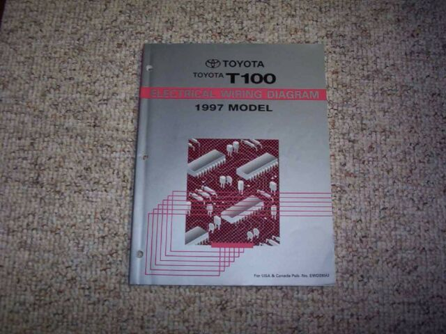 1997 Toyota T100 Truck Electrical Wiring Diagram Manual Xtra Extended Cab Sr5