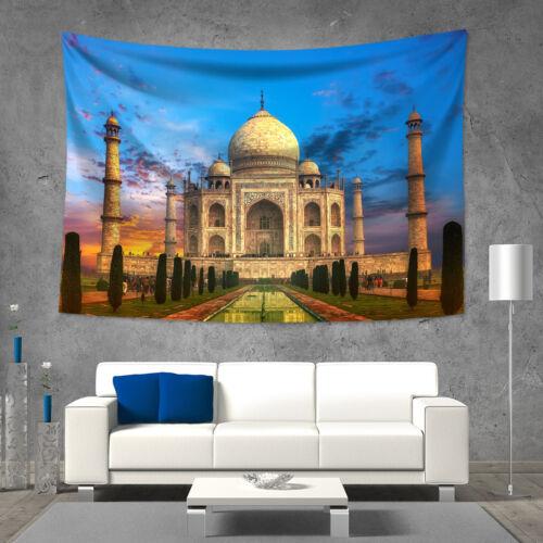 Taj Mahal Wall Hanging Tapestry Picnic Beach Sheet Bedspread Family Wall Decor