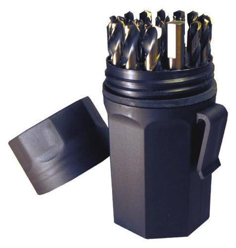 NEW Norseman CTD 46952 29pc Jobber Drill Bit Set AQF-29P 1//16-1//2 by 64ths