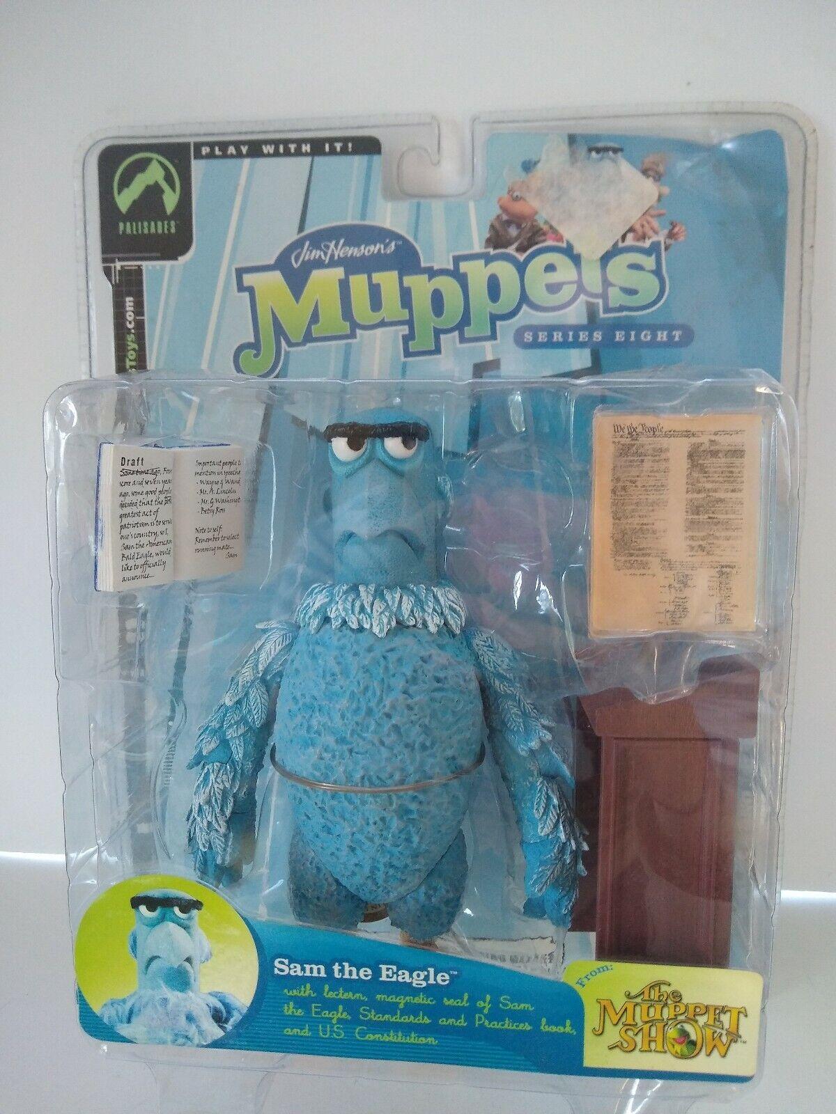 The Muppet Sam The Eagle Series 8 Show Shifty Eye variante Palisades Figura NUEVA