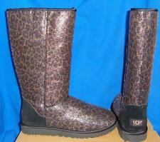 UGG Australia Classic Black Tall Glitter Leopard Boots Size US 9 NIB #1006819