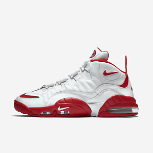 922390fb97 Nike Air Max Sensation Men's Basketball, Summit White University Red ...