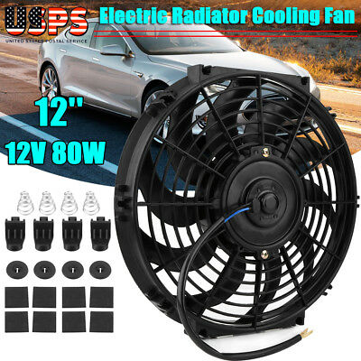 Universal Car Truck Fan Push Pull Electric Cooling Fan Mount Kit Accessories ABS