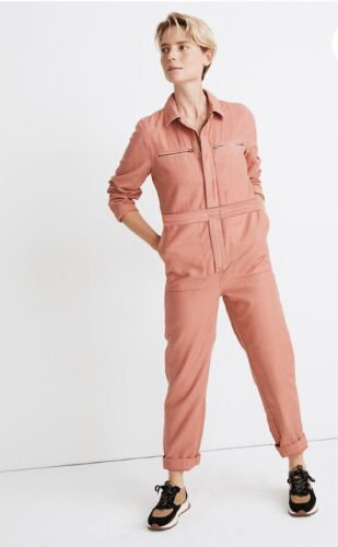 Madewell Zip-Pocket Coverall Jumpsuit size Petite