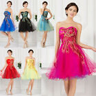 PEACOCK Mother Of Bride Prom Brideamaid EVENING Gown Short Party Dress PLUS SIZE