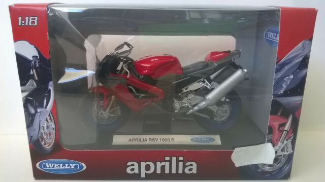 WELLY 1:18 MOTO DIE CAST APRILIA RSV 1000 R ROSSO ART 19660