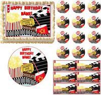 Movie And Popcorn Night Party Edible Cake Topper Image Frosting Sheet Cake