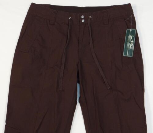 Active 100 Ralph Kvinder Pants Nwt Lauren Casual Brown t8qwPwa