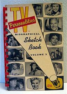 1957 TV Stars Personalities Biographical Sketch Book 3