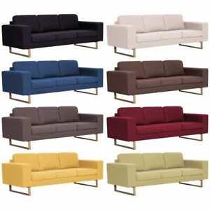 vidaXL-Sofa-3er-Stoff-Polstersofa-Couch-Loungesofa-Sitzmoebel-mehrere-Auswahl