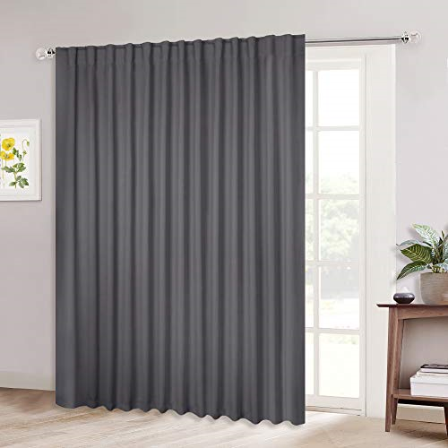 Nicetown Patio Door Curtain Slider, What Size Curtains For Sliding Glass Doors