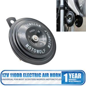 12V-110DB-Universal-Black-Waterproof-Car-Off-Road-Motorcycle-Electric-Air-Horn