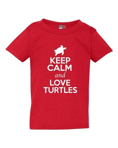 Keep Calm And Love Turtles Tortoise Animal Lover Funny Toddler Kids T-Shirt Tee
