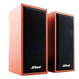 Real-Brown-Wood-Wooden-Multimedia-Super-bass-USB-speakers-for-PC-desktop-mobile
