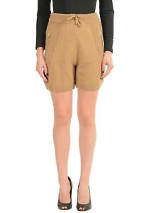 Dsquared2-Wool-Camel-Brown-Drawstring-Waist-Women-039-s-Casual-Shorts-US-M-IT-42
