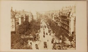 Francia Parigi Istantanea Boulevard Foto Formato CDV N Vintage Albumina Ca 1860