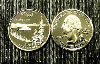 """2005 D OREGAN /""""State Quarters/"""" Choice Unc in Mint Cello from Mint Set"""