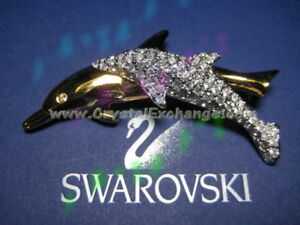 Swarovski 1991 SCS Dolphin Brooch 003-8901707 / SCBNR1, w/box+COA
